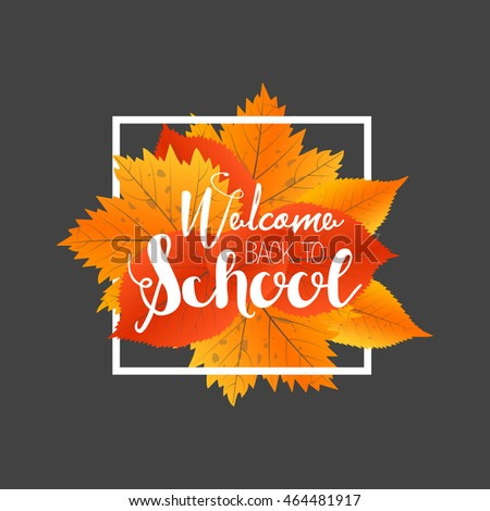 Autumn sale banner template bright colorful stock vector 704933029 autumn season welcome back to school painted lettering hand drawn label and banner template pronofoot35fo Image collections