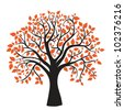 autumn tree for your design, vector image - stock vector