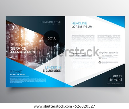 Creative Trifold Brochure Design Template Trendy Stock Vector ...
