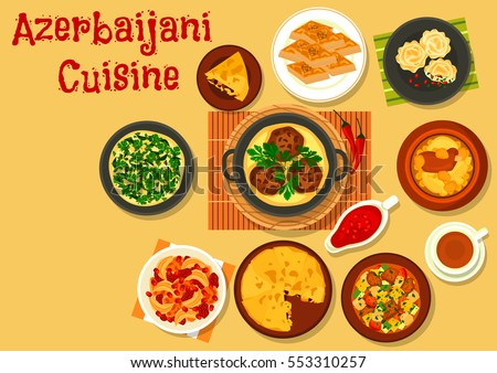 Food illustration korean food vector illustration stock for Azerbaijani cuisine