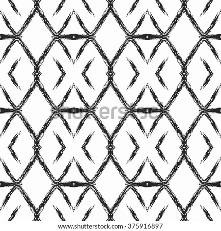 aztec seamless pattern striped hand painted stock vector 372527608 shutterstock. Black Bedroom Furniture Sets. Home Design Ideas
