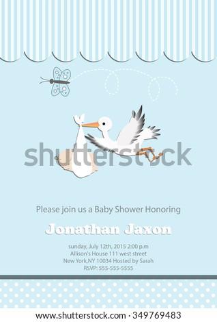 baby boy baby shower invitation butterfly stock vector 349769483, Baby shower invitations