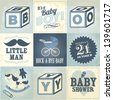 baby boy template vector/illustration - stock vector