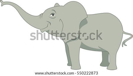 Baby elephant. Vector illustration
