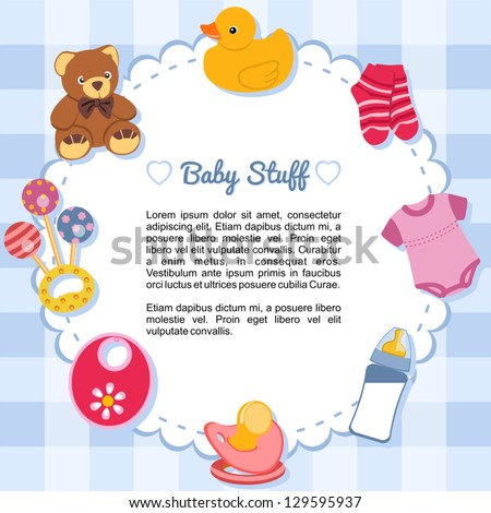 Baby stuff Stock Photos, Baby stuff Stock Photography, Baby stuff