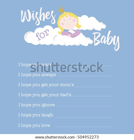 Baby Shower Card Template Its Girl Stock Vector 393013258