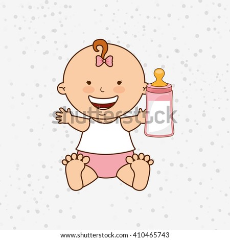 Two Cute Cartoon Babies Boy Girl Stock Vector 377811625 - Shutterstock