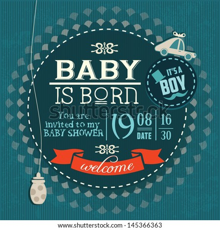 baby shower invitation baby boy is born