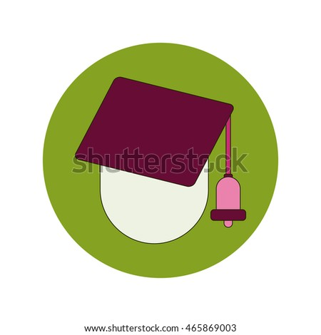Back to School and Education Vector Flat Design Graduation cap