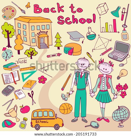 back to school Hand-Drawn Vector Illustration Design