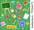 back to school icon set - stock vector