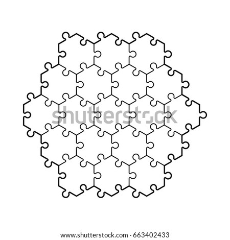 Backgriound Hexahedron Puzzle Pattern Hexagon Piece Wallpaper ...
