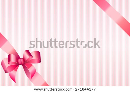 Background abstract pink strips pattern with bow vector