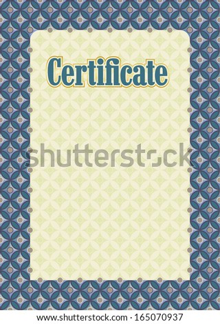 Decorative template frame design baby photo stock vector for Commemorative certificate template