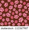 background animal footprints vector illustration - stock vector