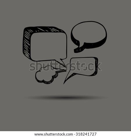background bubble design icon illustration sign speech template vector advertisement advertising badge banner