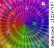 Background design, abstract bright rainbow magic backdrop. Vector eps10, contains transparencies - stock photo
