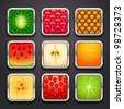 background for the app icons-fruits part - stock photo