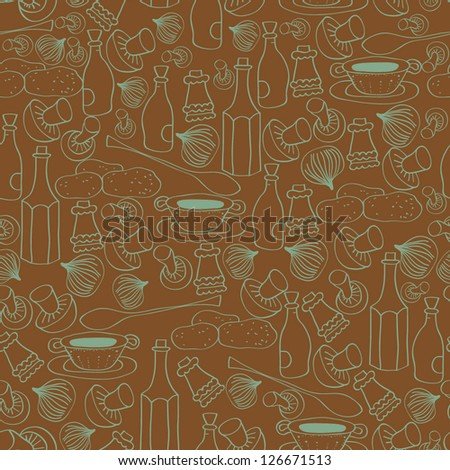 background from kitchen accessories