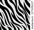 Background Illustration of Zebra Animal Print - stock photo
