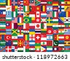 background made of world flag icons - stock vector