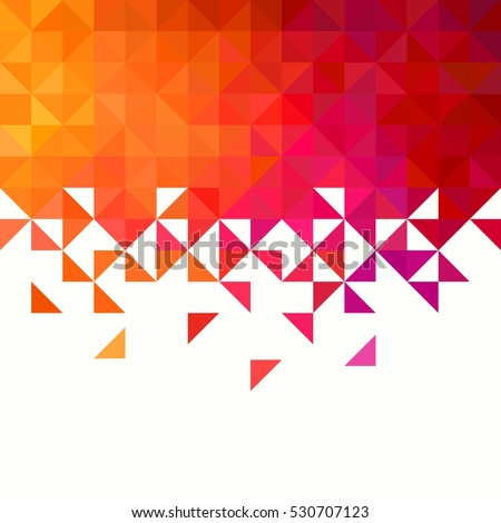 Background of geometric shapes. Colorful mosaic pattern. Triangle