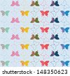 Background with beautiful butterflies - stock vector