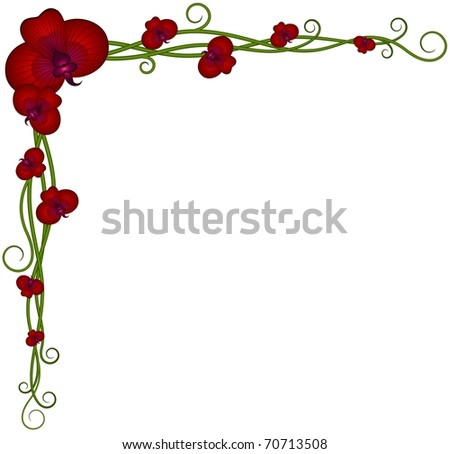 Rose Thorn Design Vector Corner Pieces Stock Vector ...