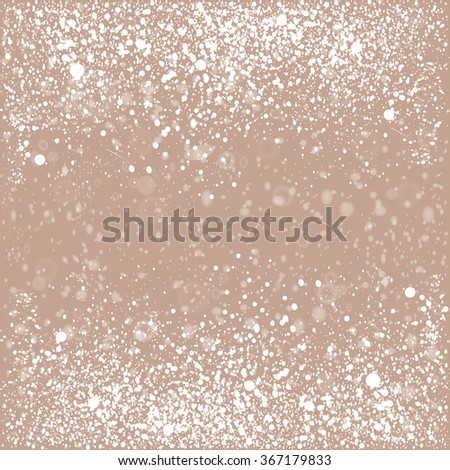 Background with snow and stars. Vector