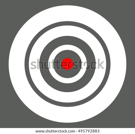 Background with target, reticle, crosshair symbol. Icon for focal point, accuracy, target range, precision concepts