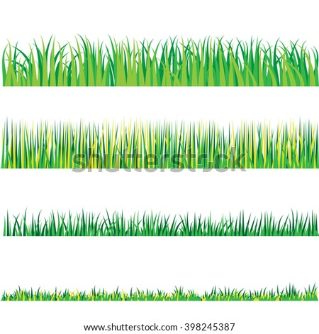 Backgrounds Of Green Grass, Isolated On White Background
