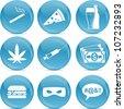 bad habits or addiction icons - stock photo