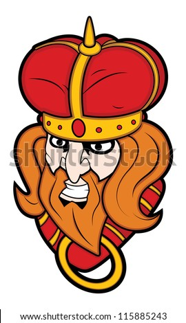 Bad King Mascot Vector