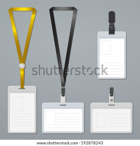 identification white blank plastic id cards stock vector 263677166 shutterstock. Black Bedroom Furniture Sets. Home Design Ideas