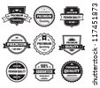 Badges Collection 01 - vector logos template. Creative sign in vintage retro style. Concept labels.  - stock vector