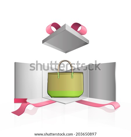 Bag over isolated background. Vector design.