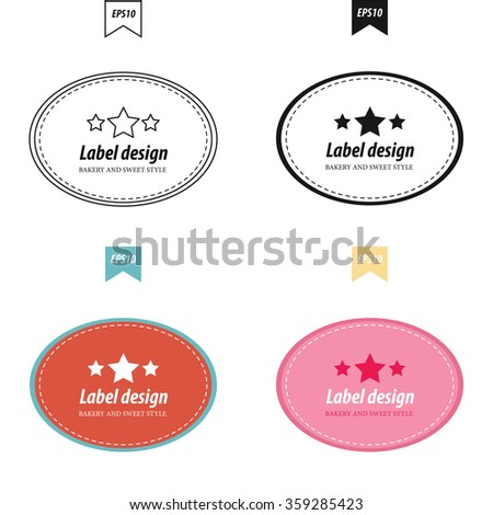 bakery label style 4 style design