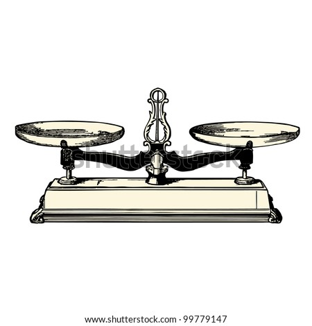 Balance  - vintage engraved illustration - Catalog of a French department store - Paris 1909