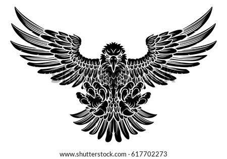 woodcut style american bald eagle mascot stock vector 537164932 shutterstock. Black Bedroom Furniture Sets. Home Design Ideas