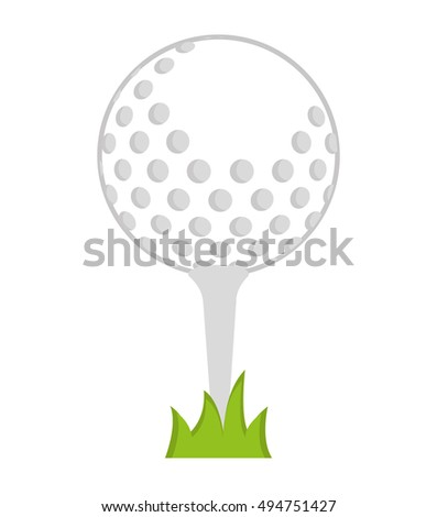 ball golf sport equipment vector illustration design