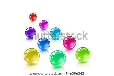 Balls set for abstract design and concepts