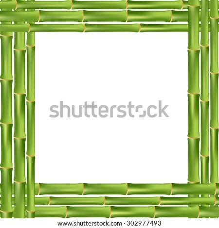 Green Frame Bamboo Style Stock Vector 29684872 - Shutterstock