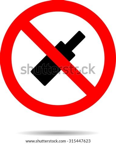 Ban alcohol sign flat icon. Symbol bottle, alcoholic no, forbidden beverage, vector illustration