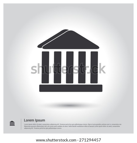 Fork spoon icon 552525469 shutterstock bank building icon court icon pictogram icon on gray background vector illustration for web voltagebd Choice Image