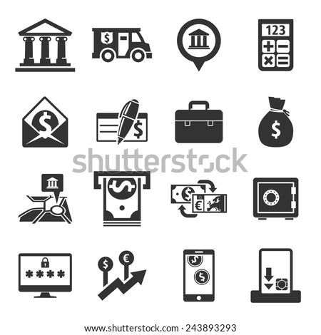 Banking Icons Thin Line Art Set Stock Vector 332227571 ...