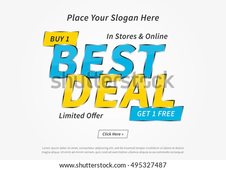 Vector colorful promotion banner buy 1 stock vector for Best place to buy posters in store