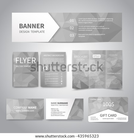 Business Templates Brochure Magazine Flyer Booklet Stock