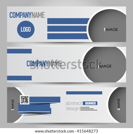 Banner template. Abstract background for design,  business, education, advertisement.  Blue color. Vector  illustration