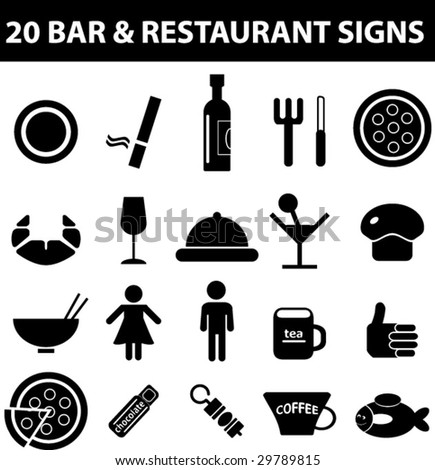 bar and restaurant signs - vector set. see more in my portfolio