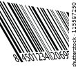 bar code vector illustration on a white - stock vector